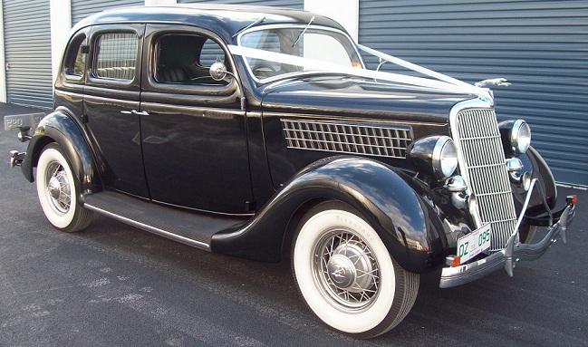 1935 Ford V8 Deluxe Sedan & 1935 Ford V8 Deluxe Sedan The Untouchables Wedding Cars from the ... markmcfarlin.com